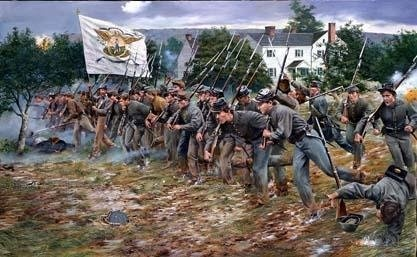 battle of new market | VMI Cadets advance at the Battle of New Market