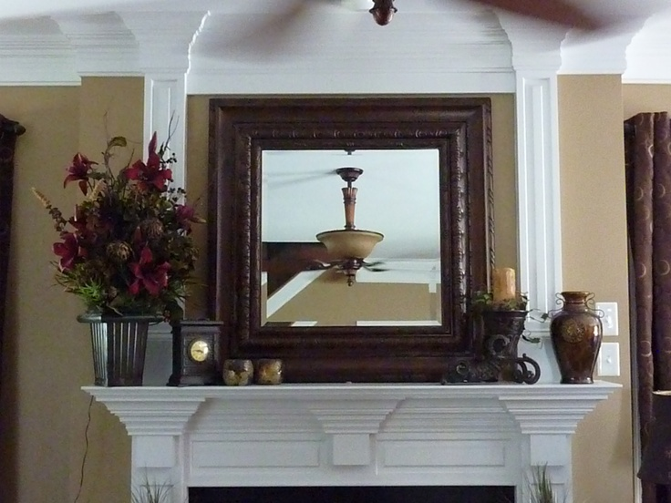 37 best images about decorate mantels on pinterest - How to decorate a mantel with a mirror above it ...