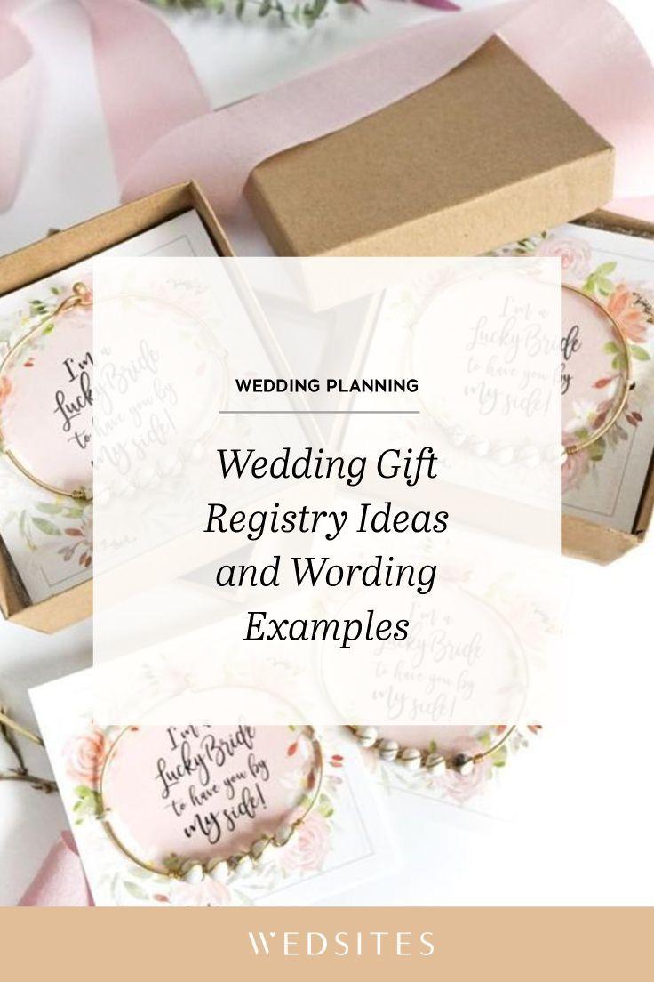 Wedding Gift Registry Ideas And Wording Examples Wedding Invitation Envelopes Wedding Planning Apps Wedding Website