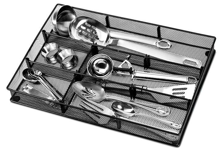 Kitchen Utensil Drawer Organizer Tray Cutlery Flatware Storage Holder Silverware #Masir