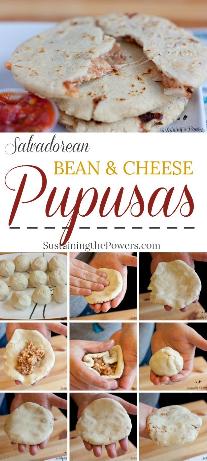 How to Make Salvadorean Bean and Cheese Pupusas |  Pupusas are pillowy corn tortillas stuffed with beans and cheese. They're super cheap, fun and quick to make and naturally gluten-free. Click through to learn how to make them with a recipe + quick video tutorial!