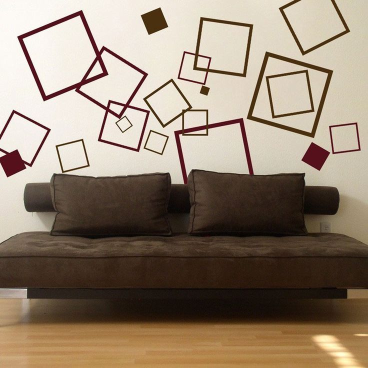 Lots Of Squares   Set Of 60 Wall Decal Sticker Graphic Part 64