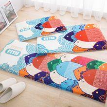 Kolorowe cartoon ryb wzór dziecko salon flanela carpet miękkie wycieraczka łazienka antypoślizgowe maty kuchnia dobrym chłonne carpet(China (Mainland))