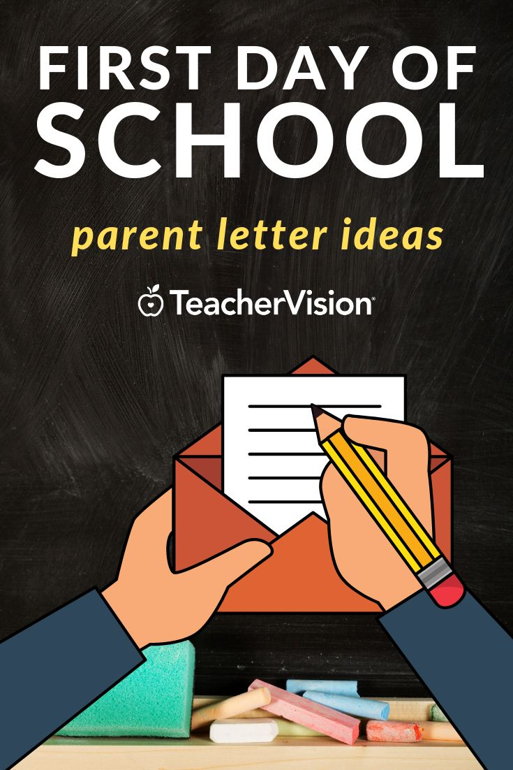 Preparing for the First Day of School Letter to teacher