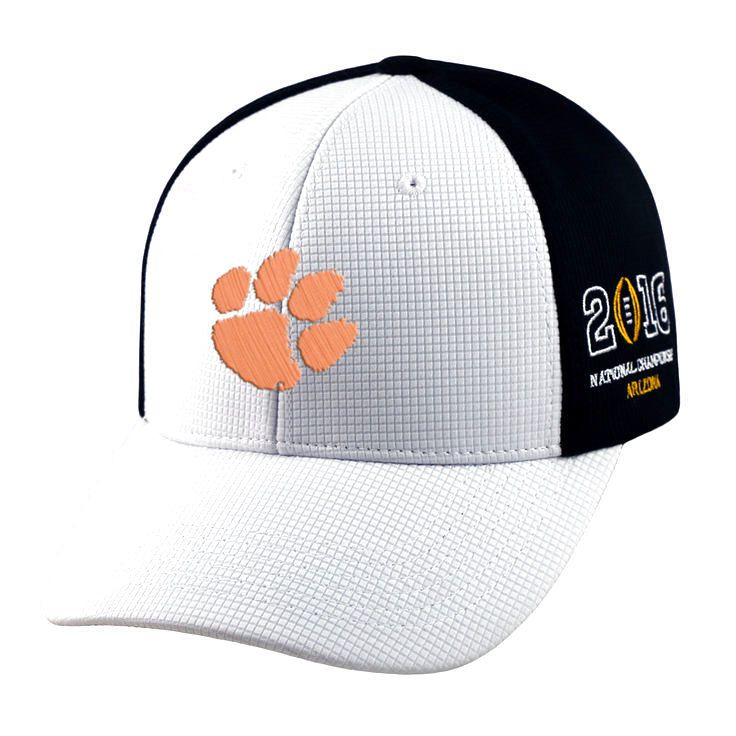 Clemson Tigers Top of the World 2016 College Football Playoff National Championship Game Bound Adjustable Hat - White/Black - $20.89