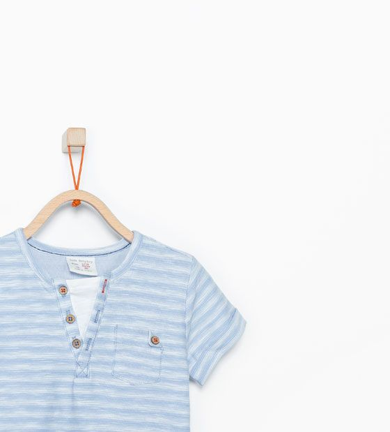 ZARA - BARN - Randig dubbel T-shirt