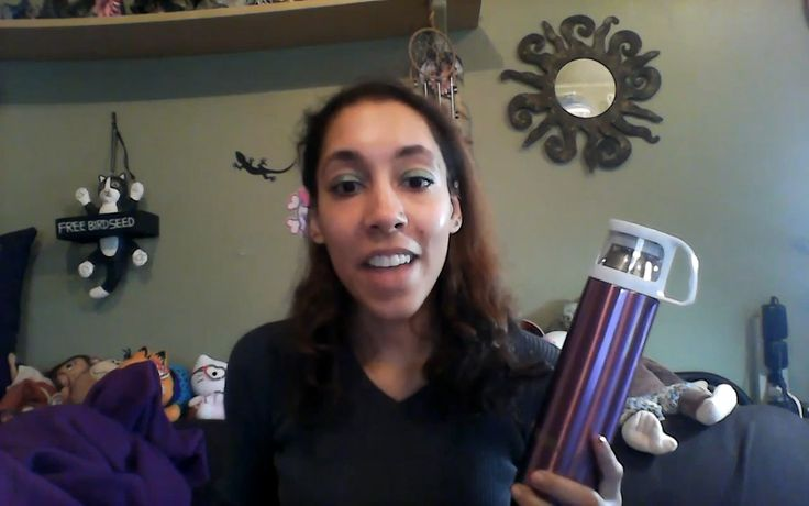 Review from Natosha Miller Purple model with cup Coffee thermos high rated