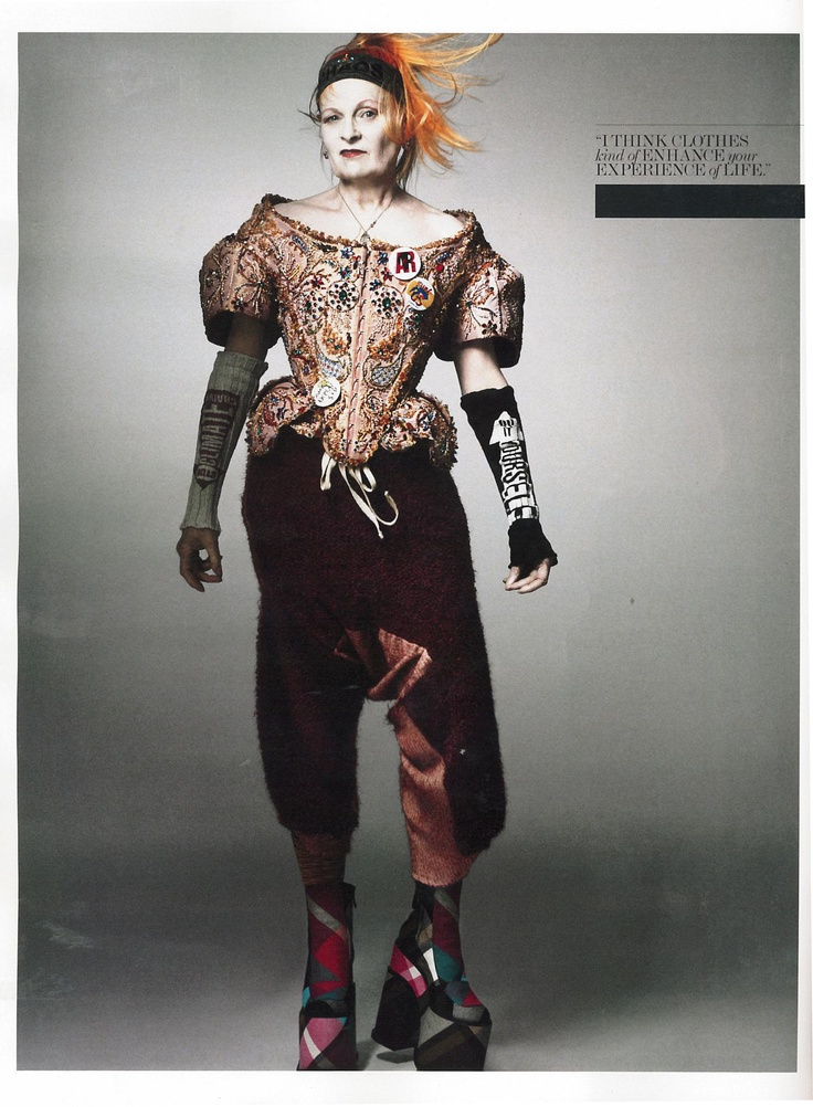 Vivienne Westwood photographed by Craig McDean for Interview Magazine.