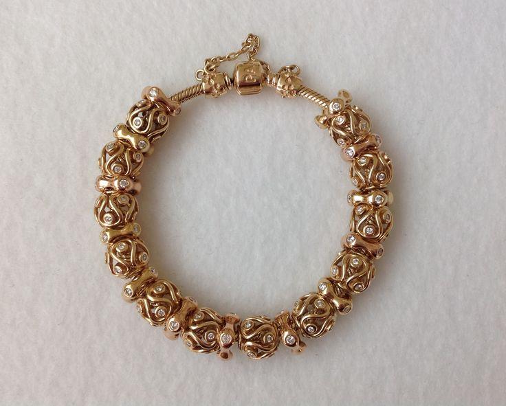 Mary Madigan's Pandora Destiny Bracelet Gold Stunning !!!