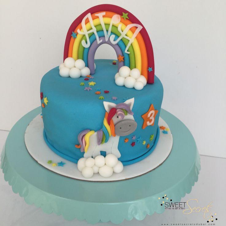 Sweet Unicorn Cake www.sweetsecretsdubai.com