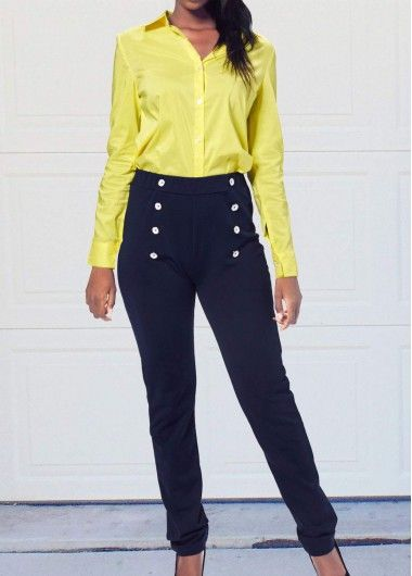 Long Sleeve Shirt and Navy Blue Sailor Pants on sale only US$39.63 now, buy cheap Long Sleeve Shirt and Navy Blue Sailor Pants at lulugal.com