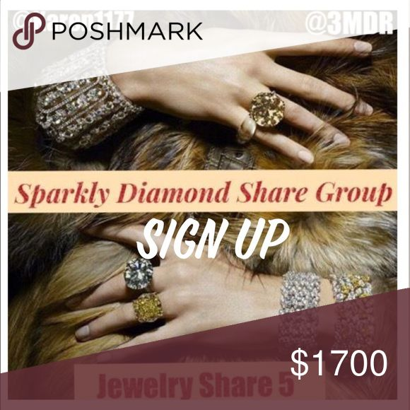 Monday 1/2 Sign Up 💎 Sparkly Diamond SG Sparkly Diamond Share Group 💎 Please read and follow the rules: Share 5 Jewelry Listings, Make sure all PFFs on the sign up list are shared, Poshmark Compliant Closets Only, Drama Free Group. Sign Up Closes at 5 pm. Please sign out by 12 AM EST. Should you have any questions, please bring them up on the Q & A listing. @karen1177 or myself will be more than happy to assist you. Jewelry