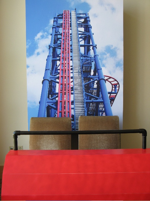 Roller Coaster Backdrop from Ideal Party Decorators - www.idealpartydecorators.com