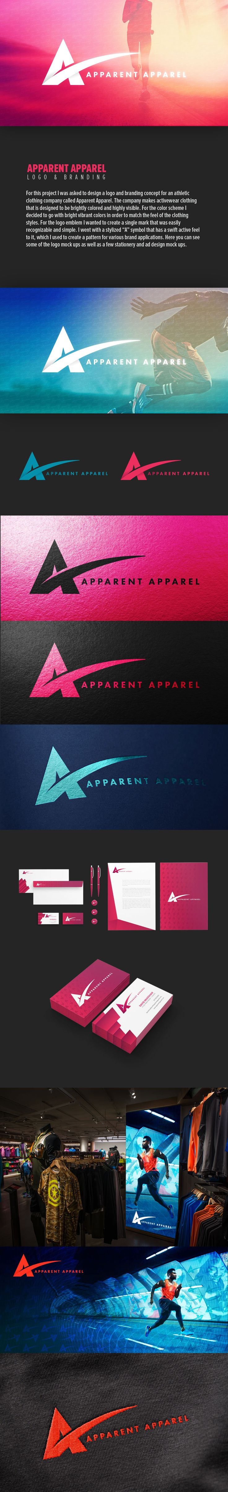 Apparent Apparel Logo & Branding on Behance                                                                                                                                                                                 Más