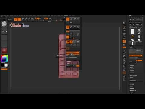 ZBrush 4R7 For Beginners: Using Symmetry Across An Axis or Axes - YouTube
