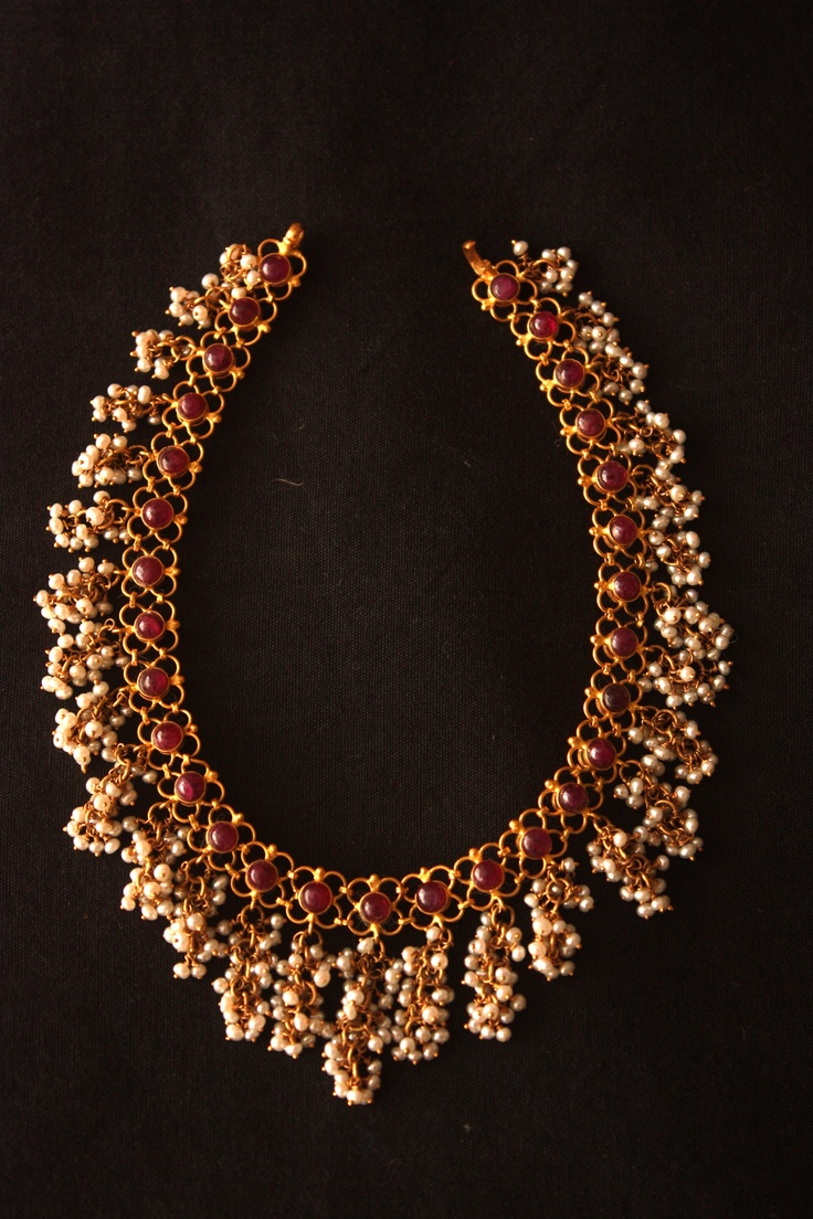 Reversible Rubies And Pearl Necklace, With Emeralds And Pearls On The  Reverse Side