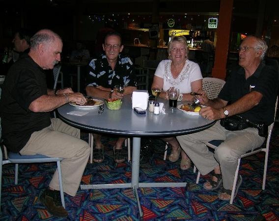 Bob, Ralf and Renate Liebig and Peter at the Lightning Ridge Club