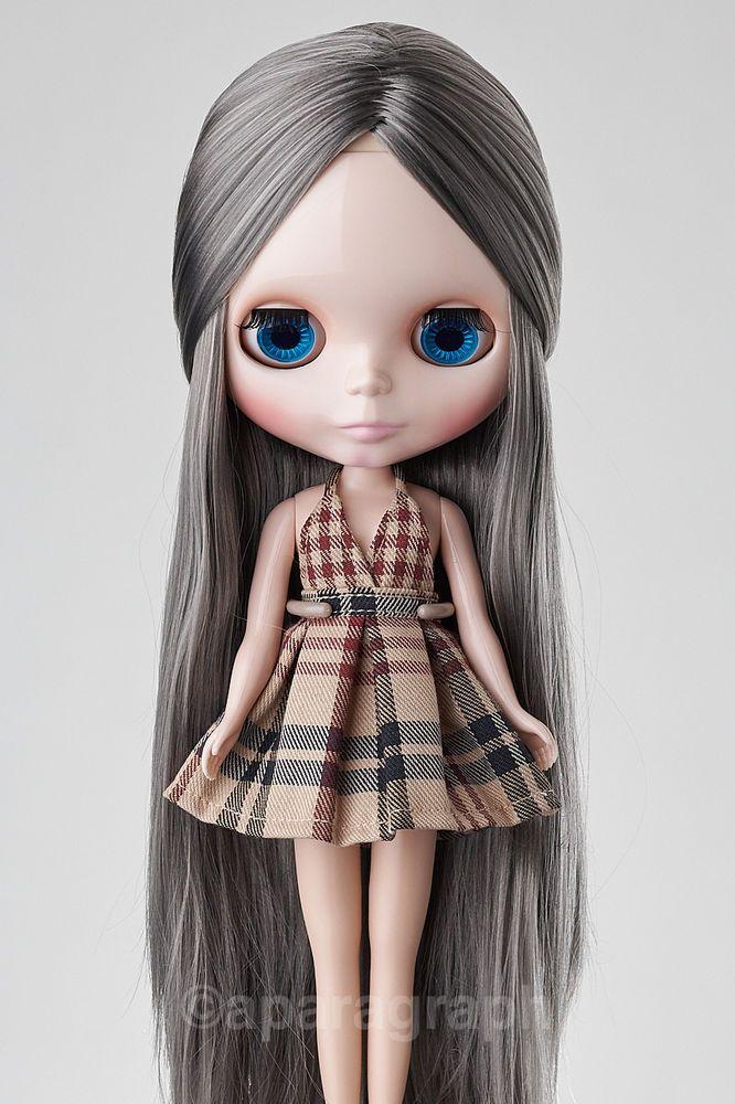 "12"" Neo Blythe Doll from Factory - Grey long hair #Blythe #Dolls"
