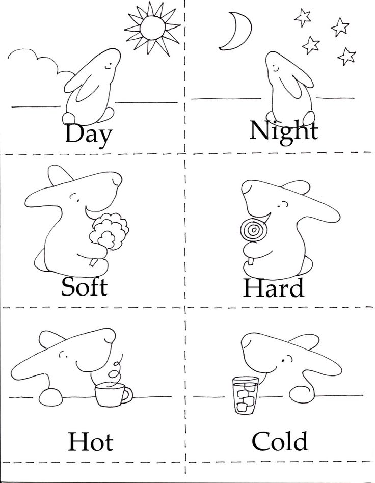 Opposites Matching Game, FREE from the Little Bunny series!