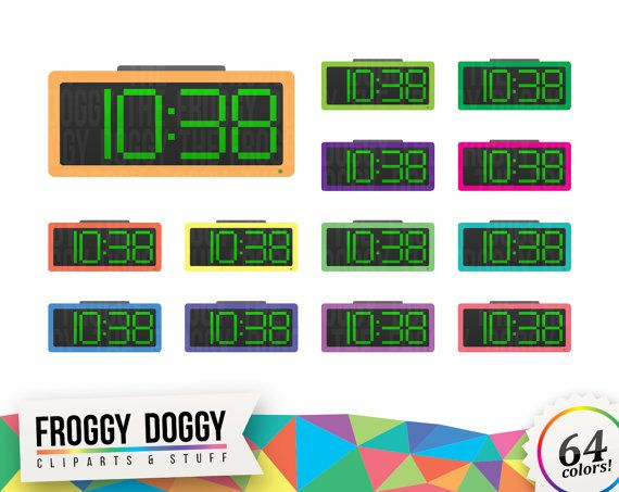 Alarm Clock Clipart, Clock Clipart, Morning Clipart, Time Clipart, Planner Clipart, Scrapbooking Cliparts
