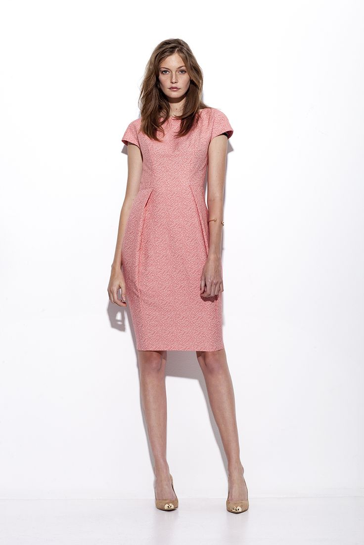 "Bogelund-Jensen´s SS15 collection: The simple dress in Coral ""sparkle"" fabric"