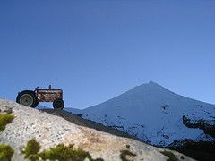 tractor and mountain (st-b) Tags: tractor toy mt nz jumbo taranaki inglewood michaelsmither funho egmontmttaranakimasseyfergusson