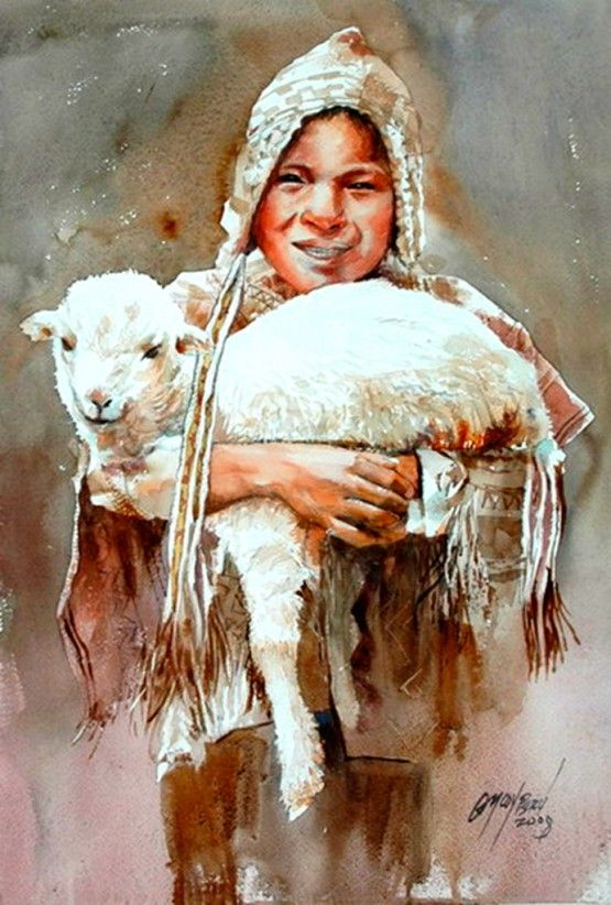 Kids of the mountains,by Rogger Oncoy.