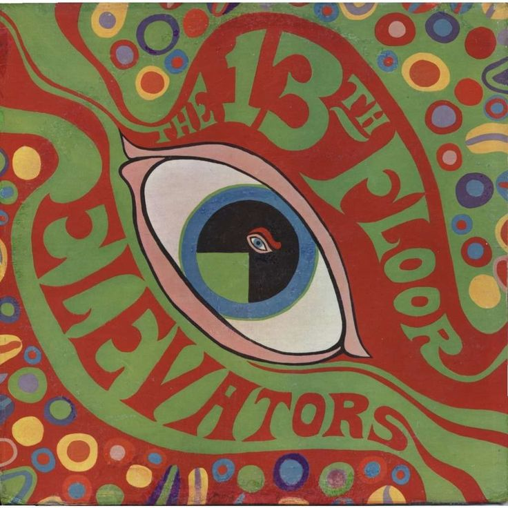 13th floor elevators, album cover 1966. First psychedelic rock band