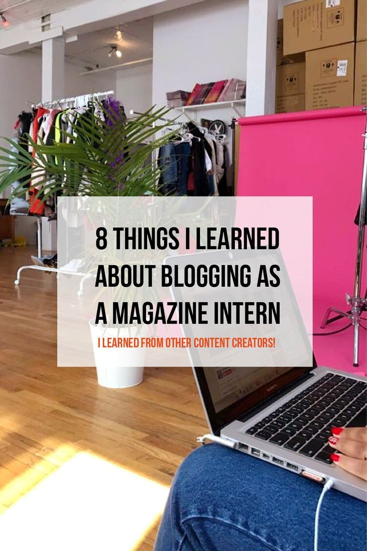 things i learned in my internship