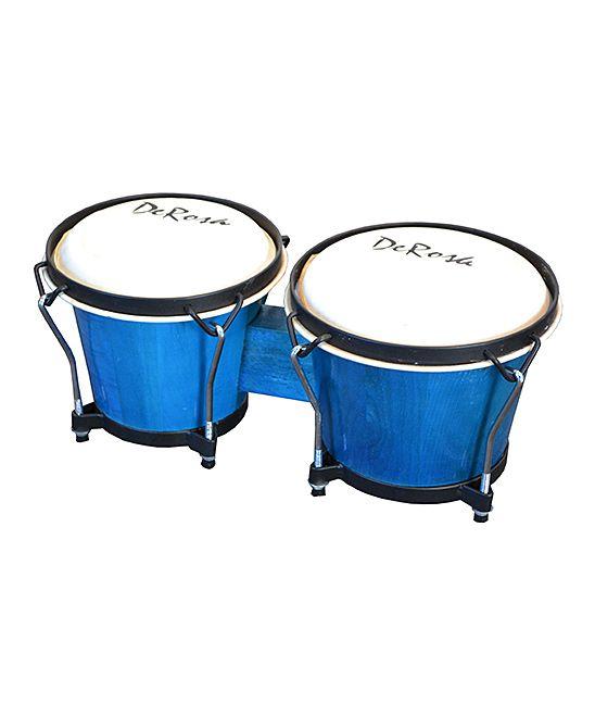 Blue De Rosa Solid Wood Double Bongo Drum