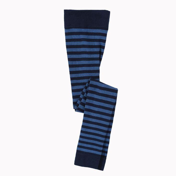 Gestreepte leggings, blauw