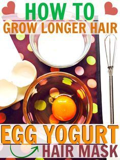 Here's how you can grow your hair longer and stronger with just two ingredients! Make an egg yogurt hair mask for long thick and shiny hair!