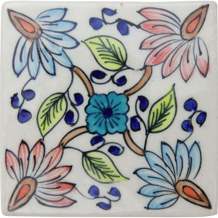 These simple and beautiful hand-painted, glazed ceramic tiles are used predominantly in kitchens, bathrooms and around open fireplaces, and are sure to add a natural warmth and sense of charm to any setting they're included in.