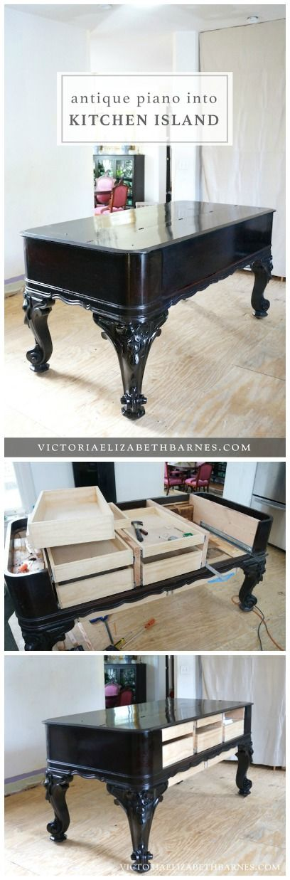 We're repurposing this AMAZING piece of antique furniture into our KITCHEN ISLAND… it's the first step in our old Victorian house DIY kitchen remodel.