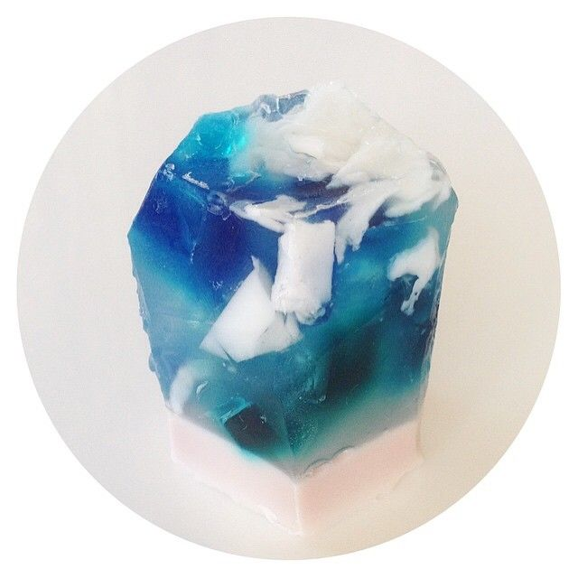 HANDMADE CRYSTAL SOAP! Head on over to www.etsy.com/shop/ThreeAtHome to own your own little gem!