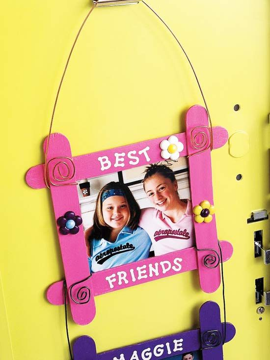 Picture frame project...for use w/the yearbook stickers. Mothers Day?
