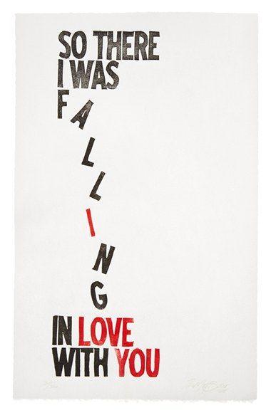 The Matt Butler 'Falling In Love' Wall Art