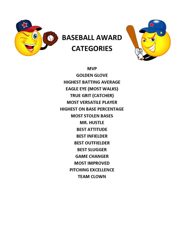 End of season baseball award categories projects ideas for kids pinterest seasons kid and for Baseball certificate ideas