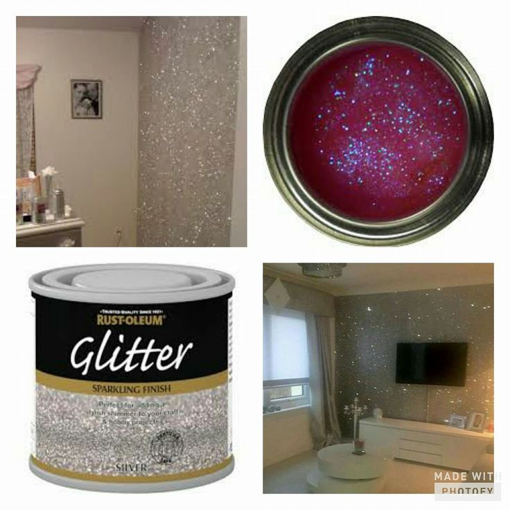 Glitter paint!! So want to try this!