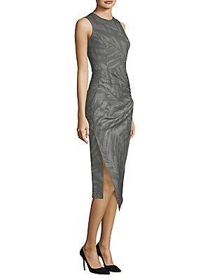 d32cee173a Michael Kors Collection Palm Leaf-Print Dress