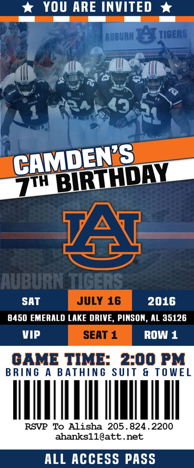 17 best ideas about football party invitations auburn football party invitation