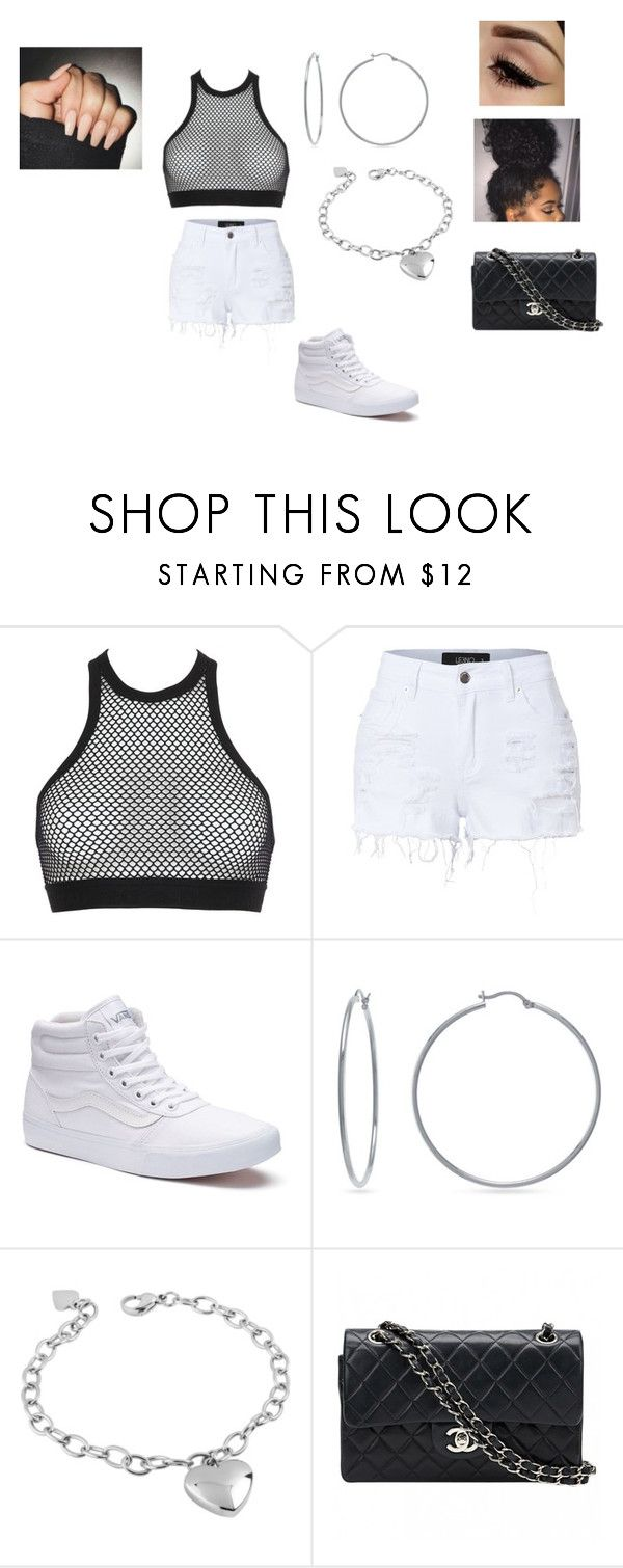 """""""flexing"""" by kyelea-1 ❤ liked on Polyvore featuring Dsquared2, LE3NO, Vans, Evie & Emma, West Coast Jewelry and Chanel"""