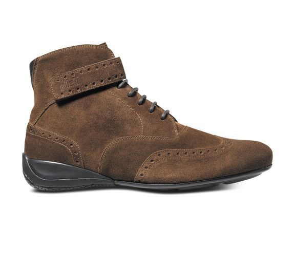 Campione suede by Piloti Luxury Collection #suede #shoes #boots #italian #driving #motorsports #brown  www.piloti.com