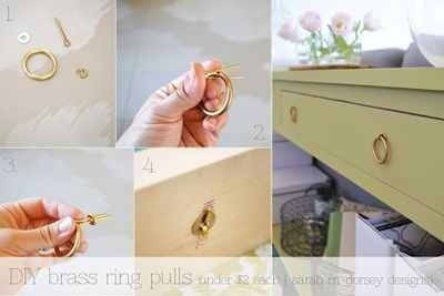 DYI Brass Ring Drawer Pulls