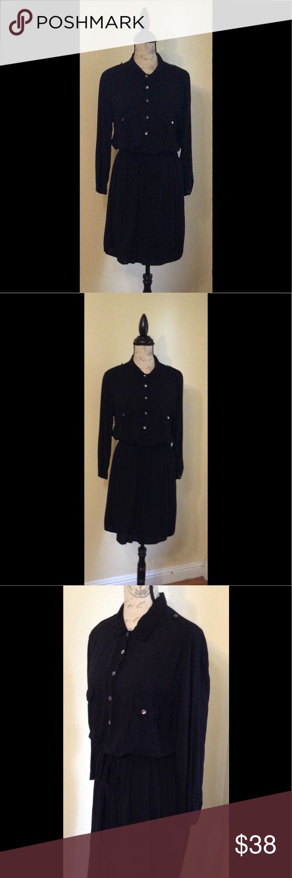 Velvet by Graham & Spencer Black Shirtdress M Black lightweight Shirtdress. Medium. Made in USA. Velvet by Graham & Spencer Dresses