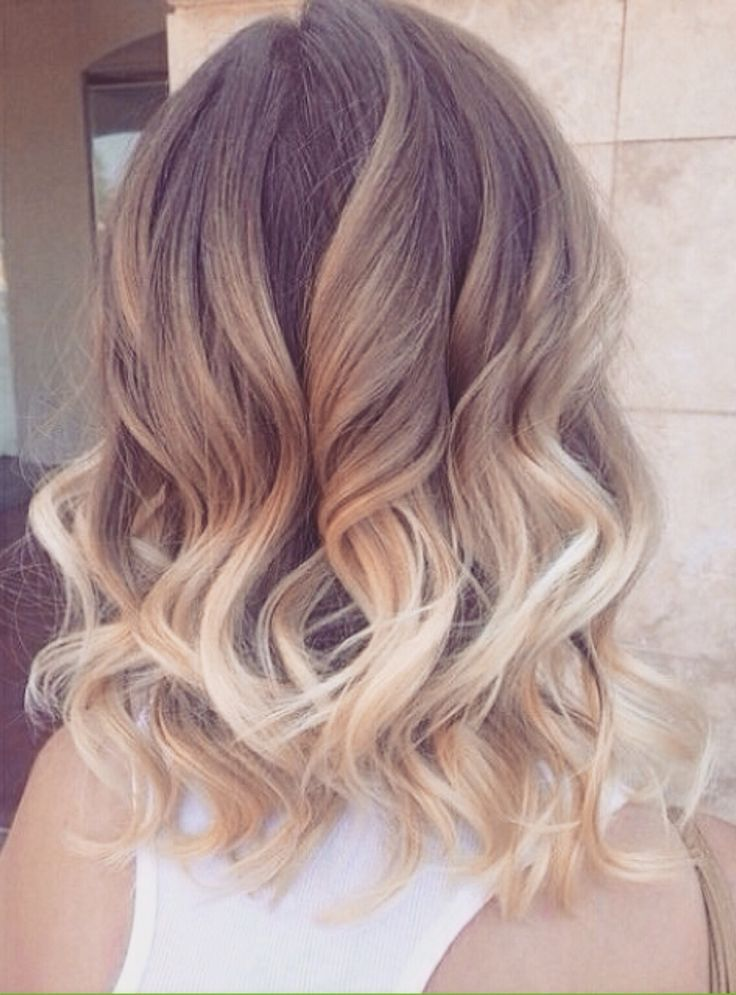 love the ombre and curls....I think about cutting my hair sometimes then I wake up:)