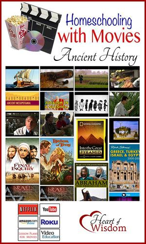 Homeschool with Movies: Ancient History (scheduled via http://www.tailwindapp.com?utm_source=pinterest&utm_medium=twpin&utm_content=post78868311&utm_campaign=scheduler_attribution)