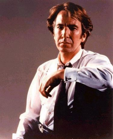 Alan Rickman. Don't care if he's old and gay, he's sexy.