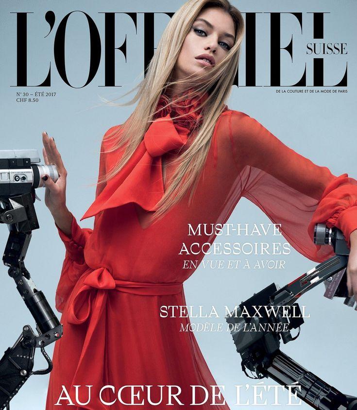 L'Officiel Switzerland Summer 2017 Stella Maxwell by Rowan Papier