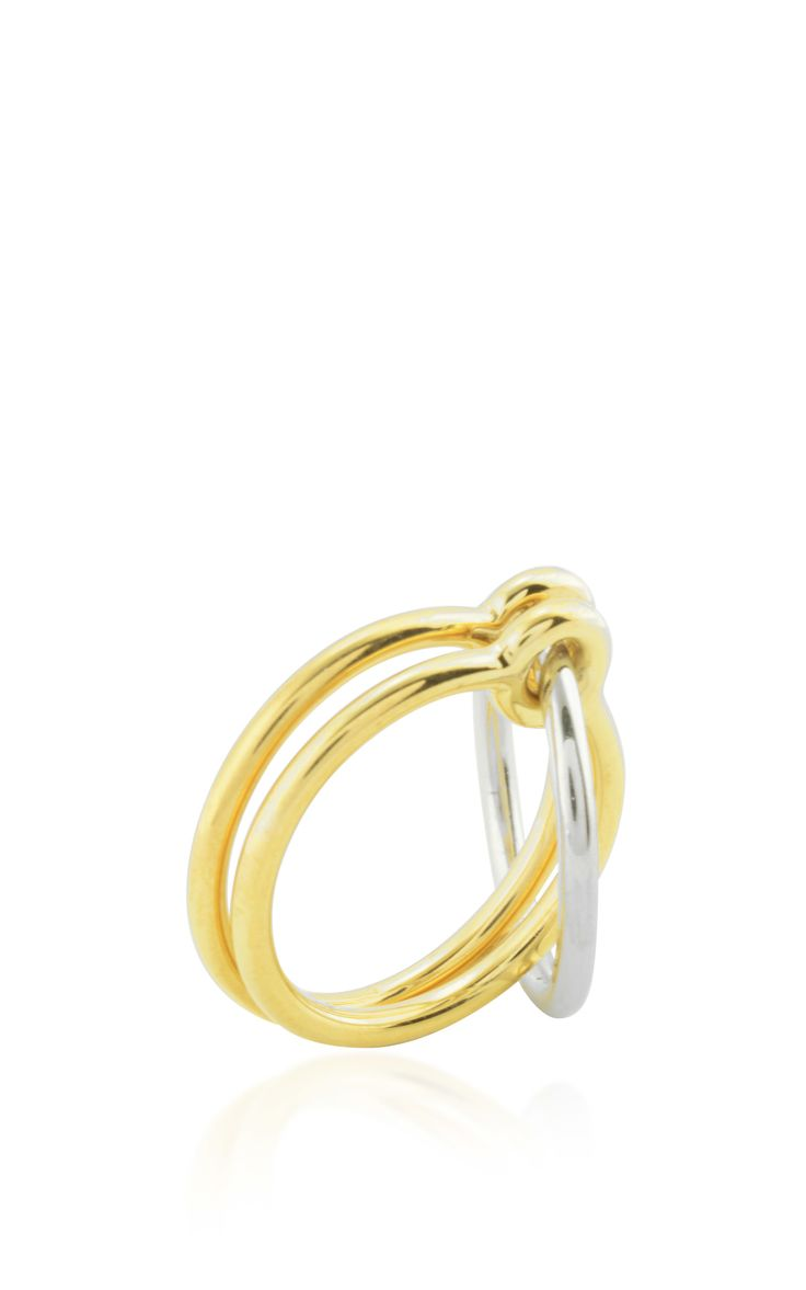 Three Lovers Linked Rings by Charlotte Chesnais for Preorder on Moda Operandi